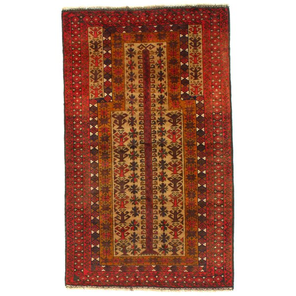 Afghan Baluch Hand-Knotted Wool Camel Area Rug by Pasargad NY