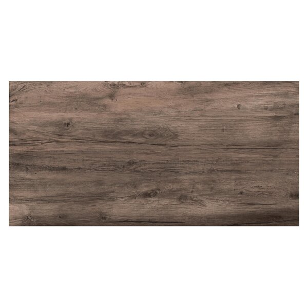 Travel 12 x 48 Porcelain Wood Look Tile in West Brown by Travis Tile Sales