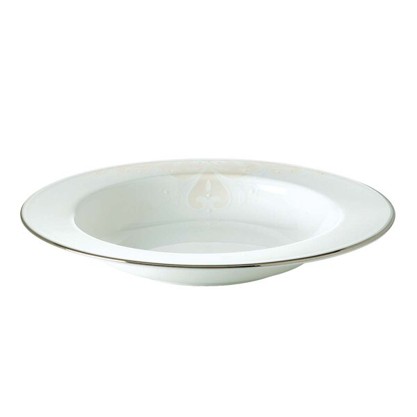 Opal Innocence Scroll Pasta/Rim Soup Bowl by Lenox