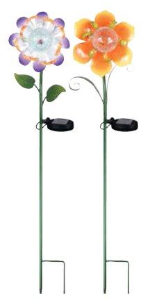Stephany Solar LED Metal Flower Garden Stake by August Grove