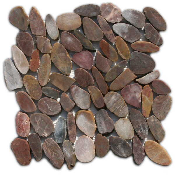 Yalong Random Sized Natural Stone Mosaic Tile in Brown