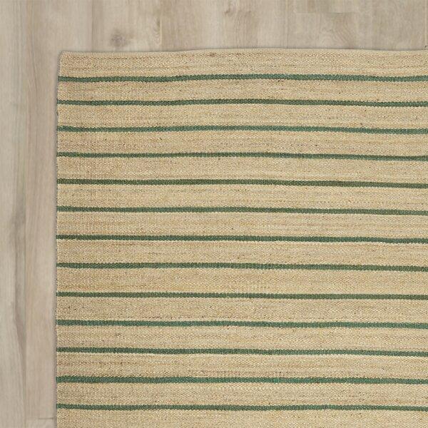 Laflin Hand-Woven Green/Wheat Area Rug by Kathy Ireland Home