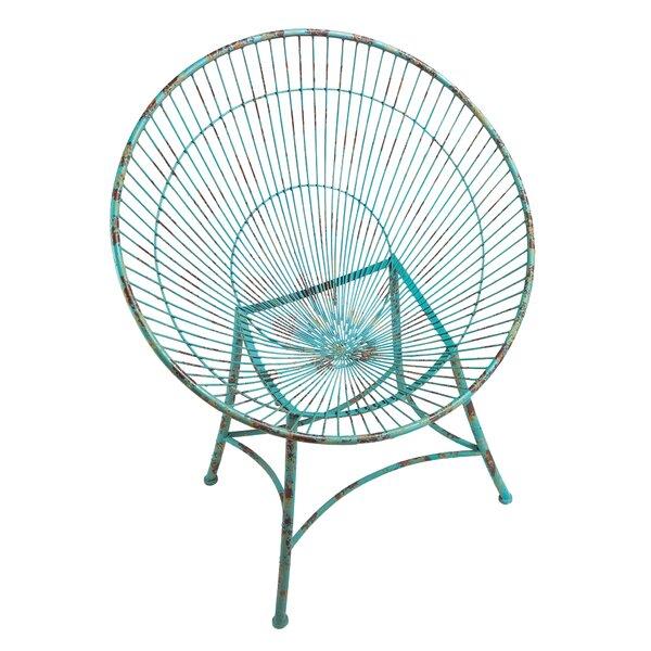 Saint-Tropez Sculptural Metal Hoop Garden Chair by Design Toscano
