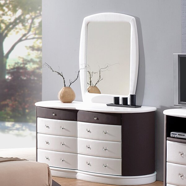 Roussel 8 Drawer Double Dresser with Mirror by Orren Ellis