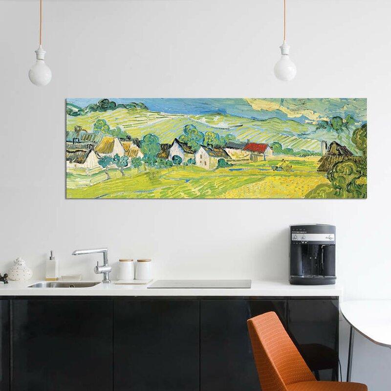 'Vue Ensoleille Près D'Auvers' By Vincent van Gogh Graphic Art Print on  Canvas