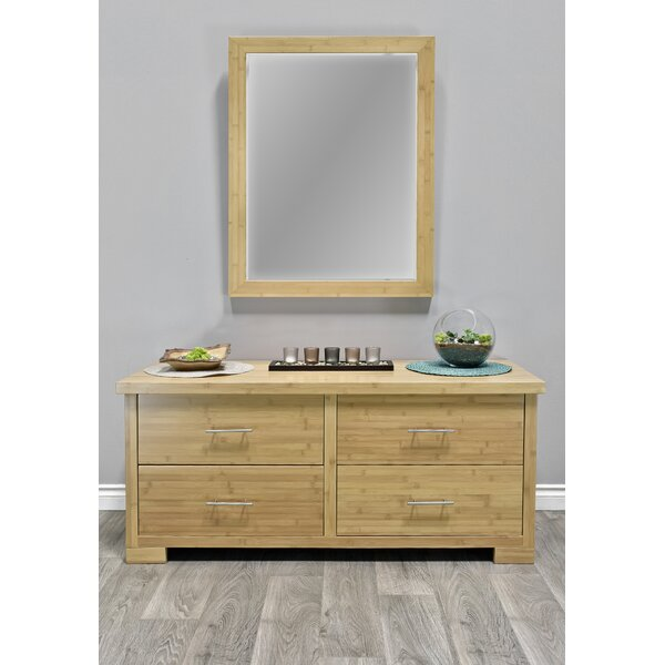 Acosta 4 Drawer Double Dresser with Mirror by Millwood Pines