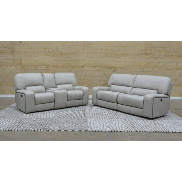 Aleverson Console Reclining Loveseat by Latitude Run