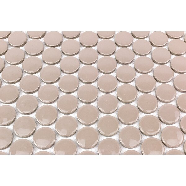 Bliss 1 x 1 Ceramic Mosaic Tile in Beige by Splashback Tile