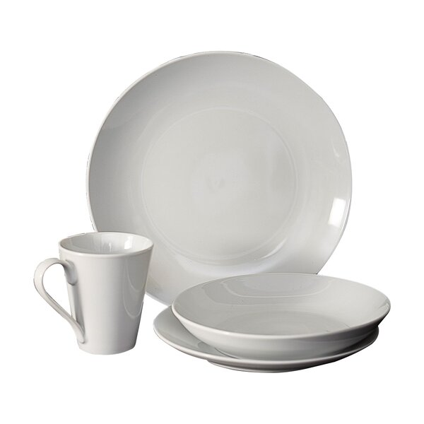 16 Piece Dinnerware Set, Service for 4 by Flato Home Products