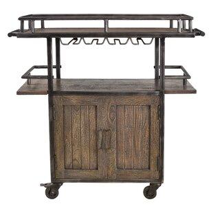 Hessler 2 Door Wheel Wine Bar Cabinet