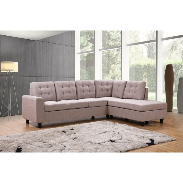 Como Right Hand Facing Sectional By Winston Porter
