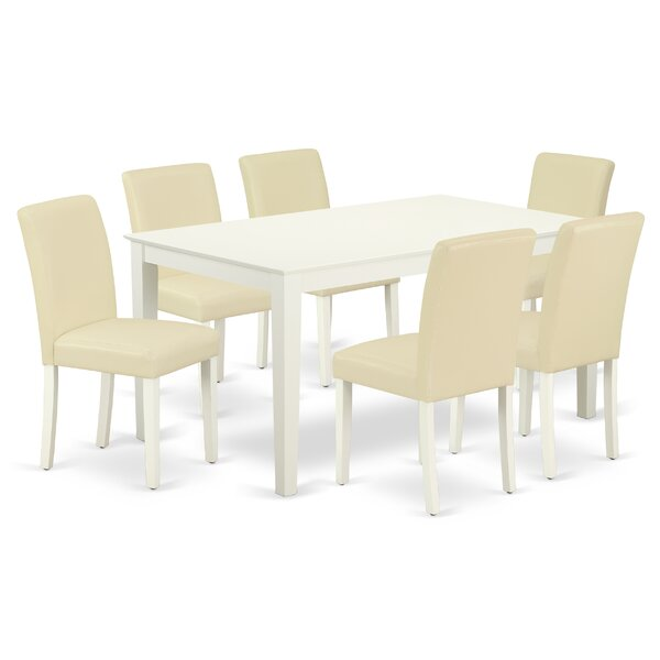 Essie 7 Piece Solid Wood Dining Set by Alcott Hill Alcott Hill