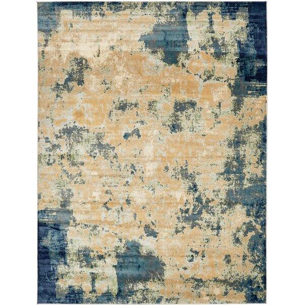 Jani Beige/Blue Area Rug by Bloomsbury Market