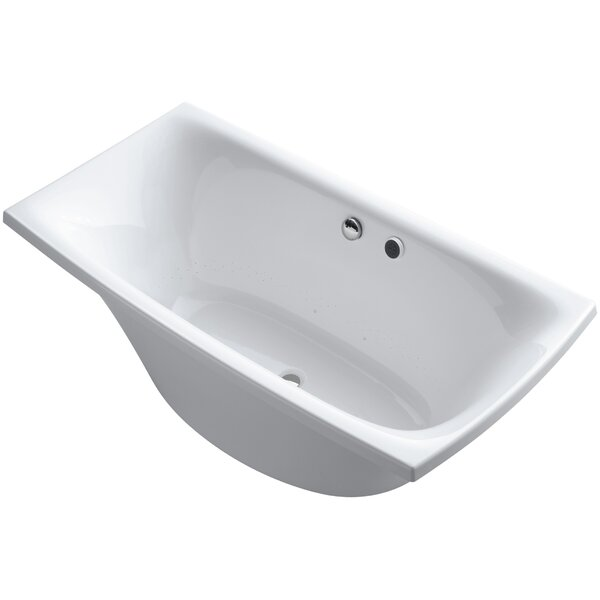 Escale Freestanding Bubblemassage 72 x 36 Soaking Bathtub by Kohler