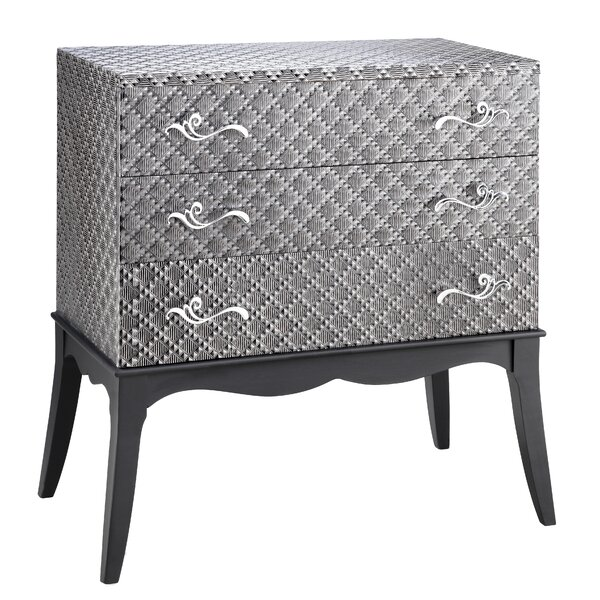 Dominick 3 Drawer Accent Chest by World Menagerie