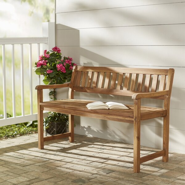 Bucksport Wooden Garden Bench by Beachcrest Home Beachcrest Home