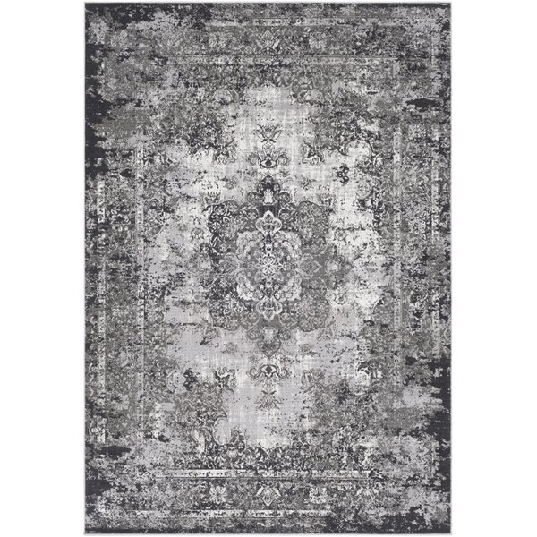 Sharpes Gray/Charcoal Area Rug by Bungalow Rose