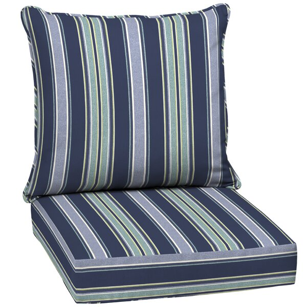 Stripe Outdoor Lounge Chair Cushion by Rosecliff Heights