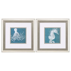 Creatures 2 Piece Framed Graphic Art Set by Breakw