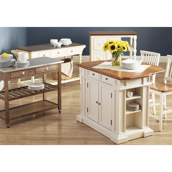Mattice 3 Piece Kitchen Island Set by Darby Home Co