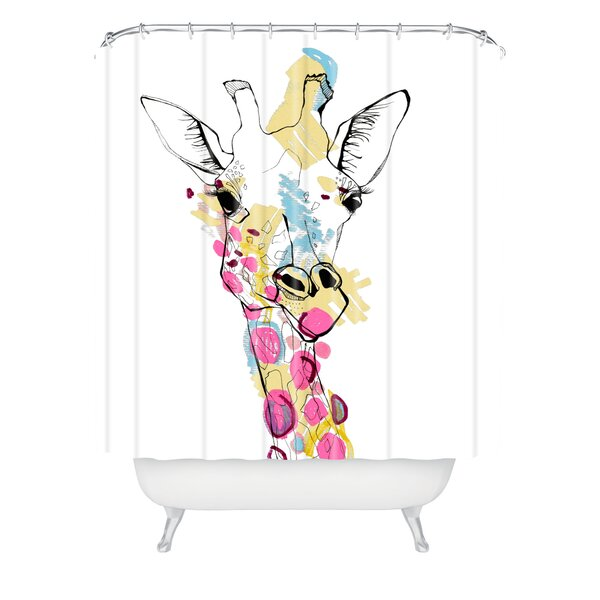 Watchet Giraffe Color Shower Curtain by Brayden Studio