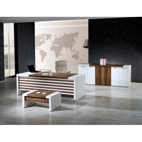 Wynter Modern 3 Piece L Shaped Desk Office Suite by Corrigan Studio