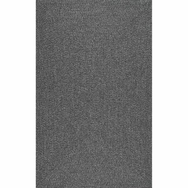 Alvarez Hand-Braided Charcoal Indoor/Outdoor Area Rug by Highland Dunes