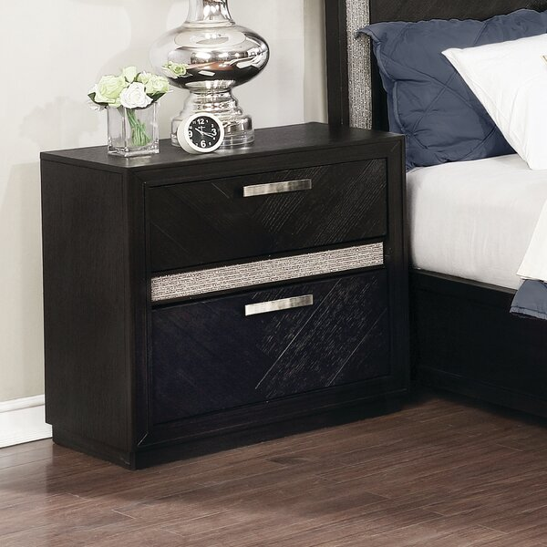 Darfur 2 Drawer Nightstand by Everly Quinn