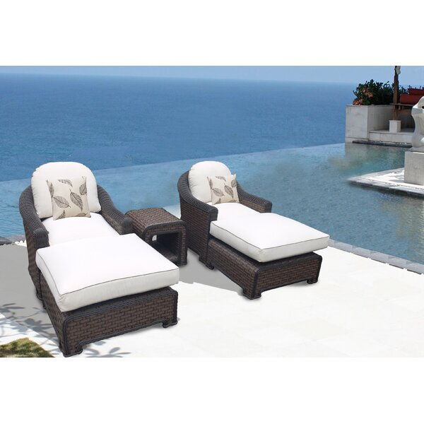 Gaia 5 Piece Conversation Set with Cushions by Bayou Breeze