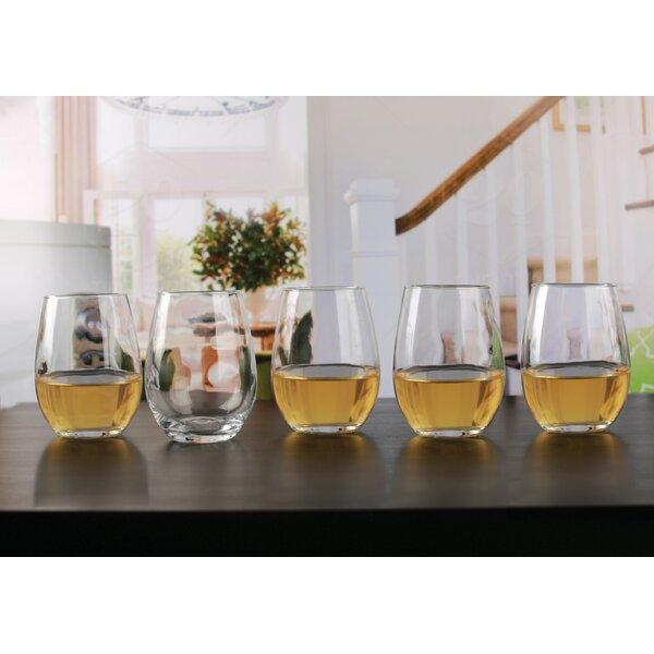 Diller Glass 18.5 oz. Stemless Wine Glass (Set of 10) by Ebern Designs