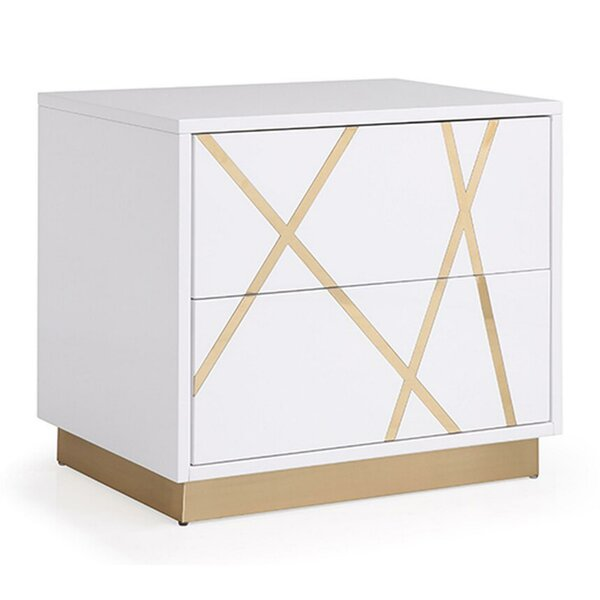 Nowthen Wooden 2 Drawer Nightstand By Everly Quinn