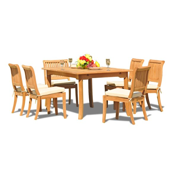 Masten Luxurious 7 Piece Teak Dining Set by Rosecliff Heights