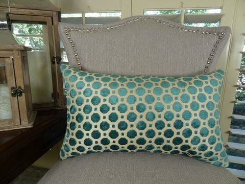 Velvet Lumbar Pillow by Plutus Brands
