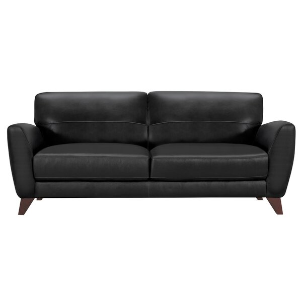 Caloundra Contemporary Leather Sofa by Brayden Studio