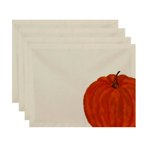 Pickrell Pumpkin Holiday Print Placemat (Set of 4) by August Grove