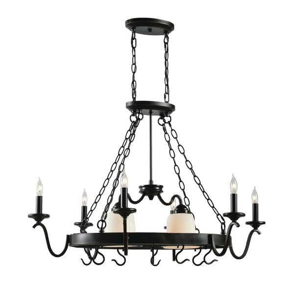 8-Light Chandelier Pot Rack by Fleur De Lis Living
