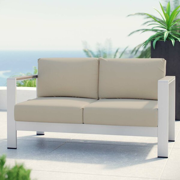 Bristol Loveseat with Cushions by Wade Logan