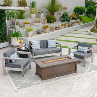 Barboza 5 Piece Sofa Seating Group with Cushions ByFoundry Select