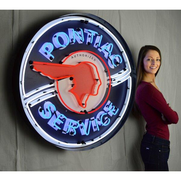 Pontiac Service Neon Sign by Neonetics