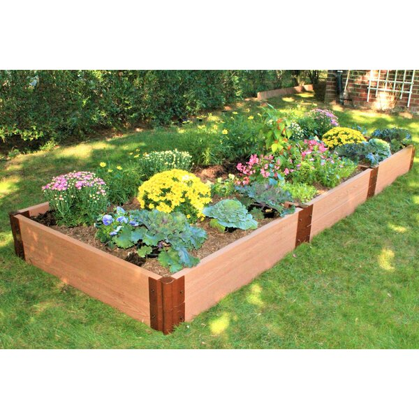 Classic Sienna 4 ft. x 12 ft. Composite Raised Garden by Frame It All