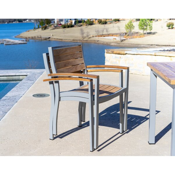Catalina Outdoor Stacking Teak Patio Dining Chair (Set of 2) by Beespoke