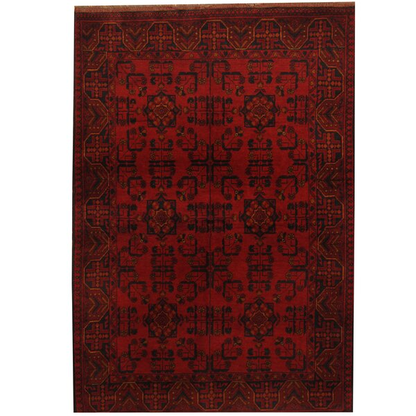Khal Mohammadi Hand-Knotted Red/Black Area Rug by Herat Oriental