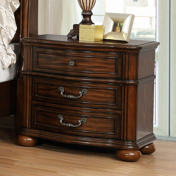 Mancheer 3 Drawer Nightstand by Canora Grey