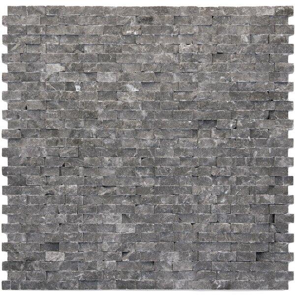 Modern 0.5 x 0.75 Marble Splitface in Madrid by Solistone
