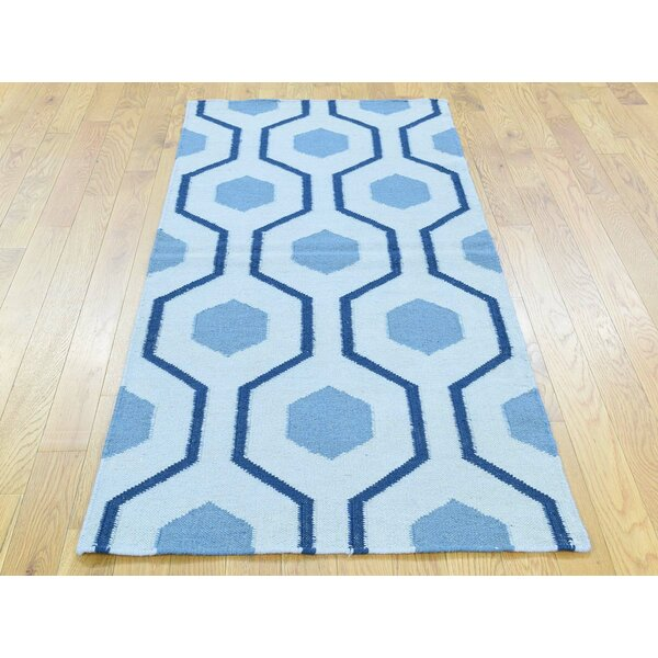 One-of-a-Kind Brant Reversible Handmade Kilim Ivory Wool Area Rug by Isabelline