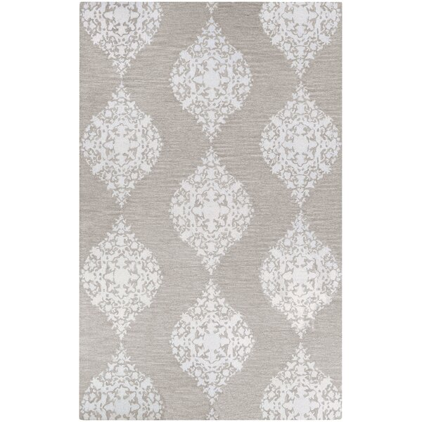 Orkney Ornament Hand-Woven Gray/Ivory Area Rug by Bungalow Rose