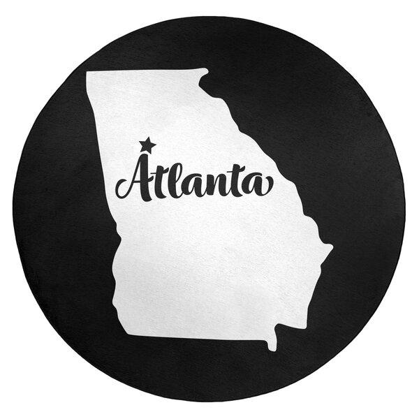 Atlanta Georgia Poly Chenille Black Area Rug