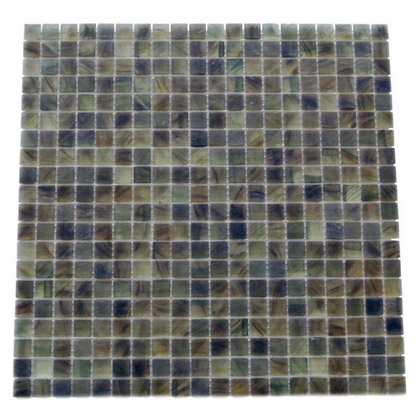 Amber 0.63 x 0.63 Glass Mosaic Tile in Frosted Dark gray by Abolos