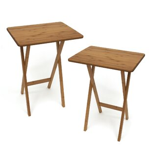 Exceptionnel Bamboo Rectangular Snack Tray Table (Set Of 2)