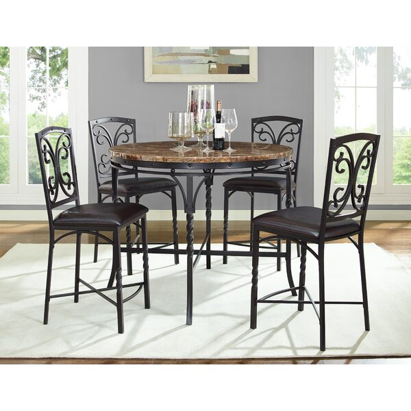 Vaughan 5 Piece Pub Table Set by Fleur De Lis Living
